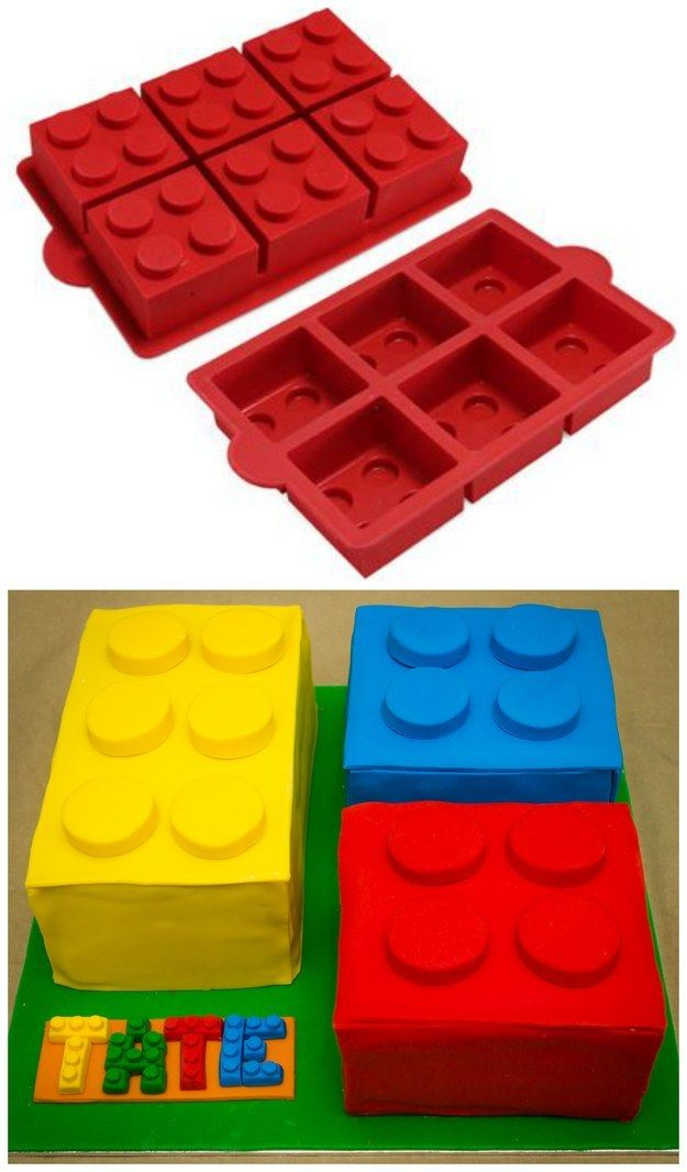 You CAN make a really impressive cake with these molds, though. | How To Throw The Ultimate LEGO Birthday Party