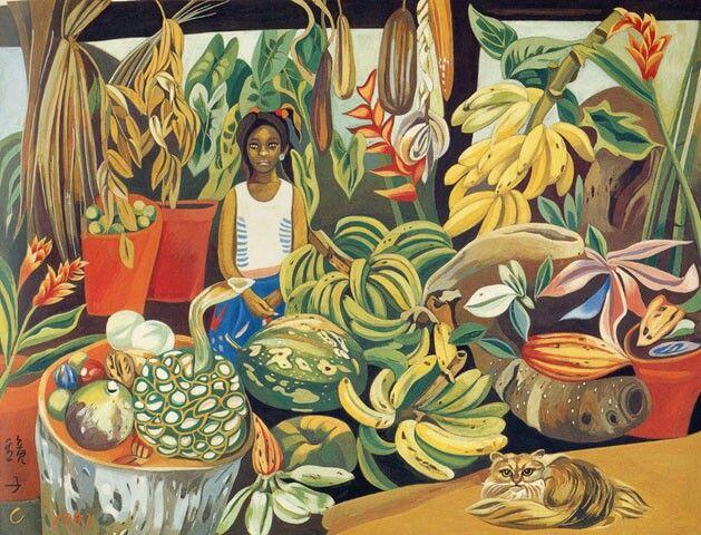 (Korea) Boy in Jamaica by Chun Kyung-ja (1924~2015). Korea. 천경자