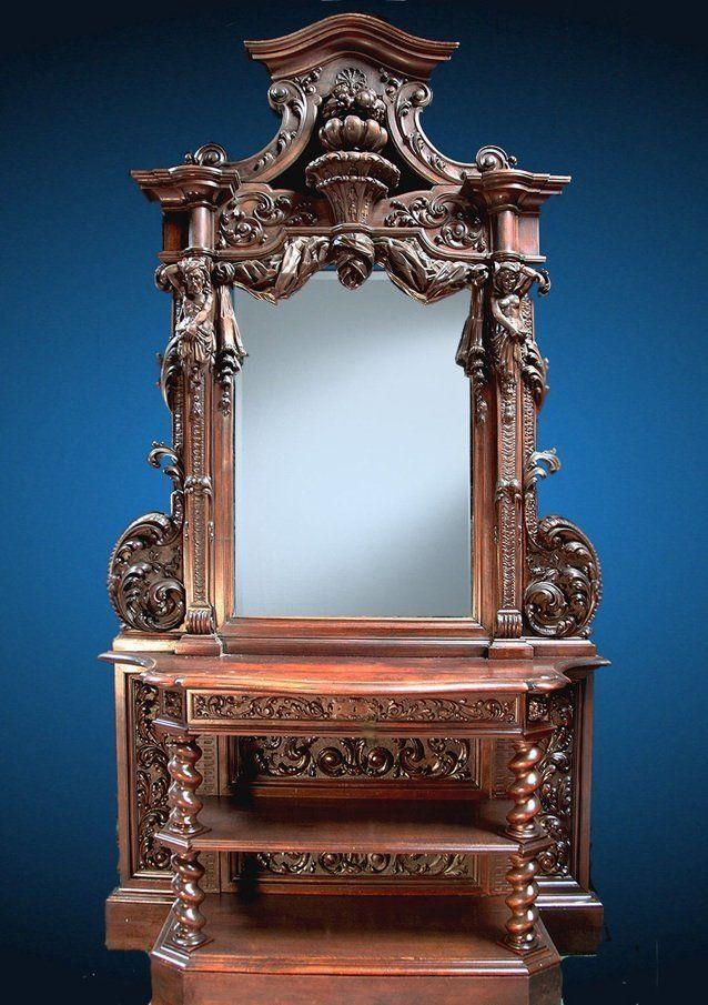 19th Century Walnut Venitian Renaissance Cabinet