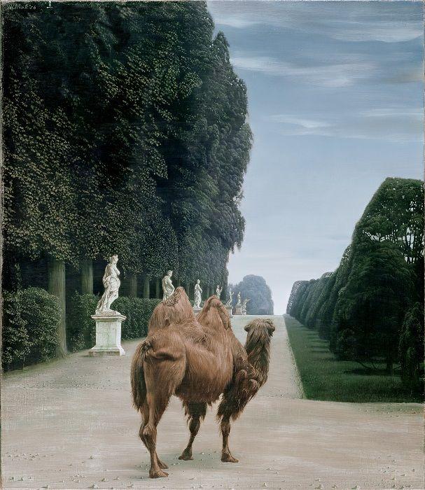 Carel Willink, Kameel in het park van Versailles, 1956. Collectie Museum MORE. © Sylvia Willink-Quiël