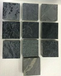 soapstone samples - soapstone counter top in the bathroom!