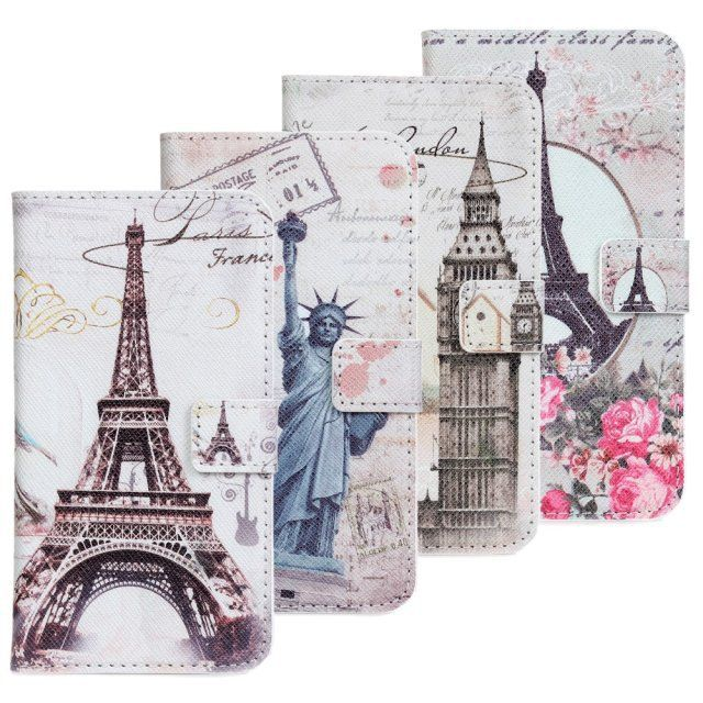 statue of liberty eiffel towel flower big ben London Paris New york PU leather wallet phone case for Samsung Galaxy S3 i9300 TA //Price: $9.95 & FREE Shipping //     #hashtag4