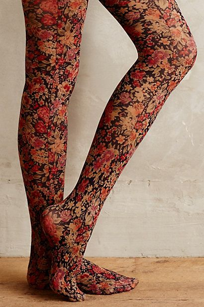 Ditsy Tights :: #anthrofave -- These do cover up leg imperfections but also maybe look like you need to go take a bath???