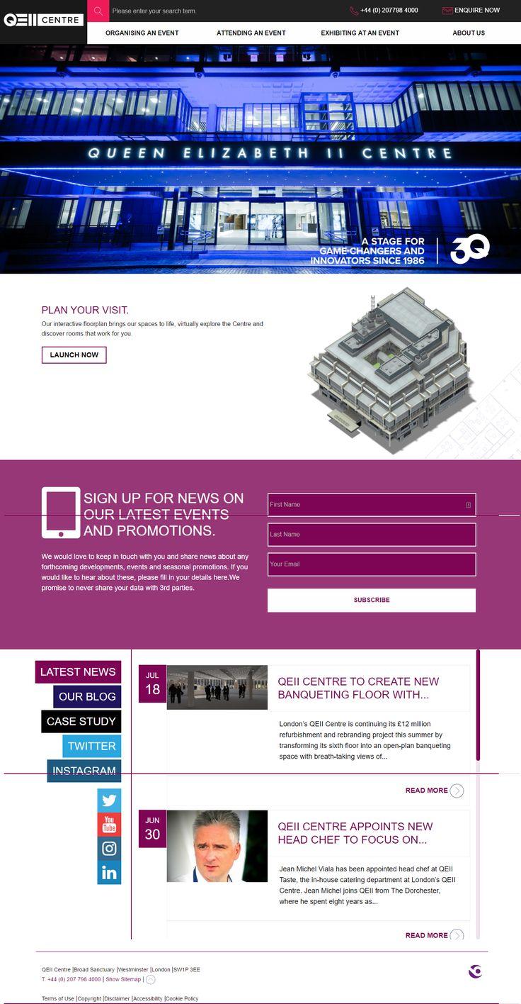 QEII Centre London website inspiration