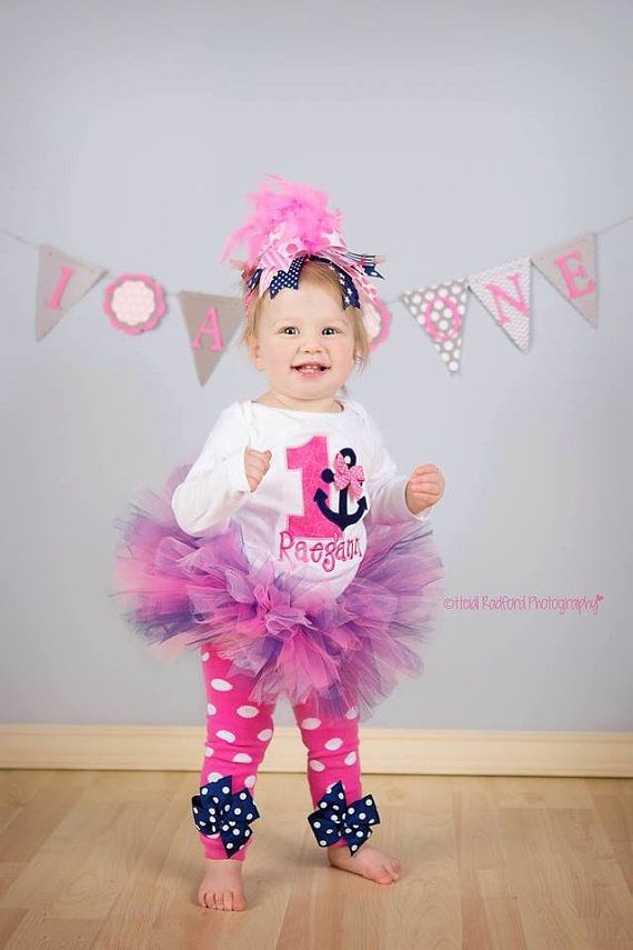 First Birthday Tutu Outfit Anchors Away by DarlingLittleBowShop