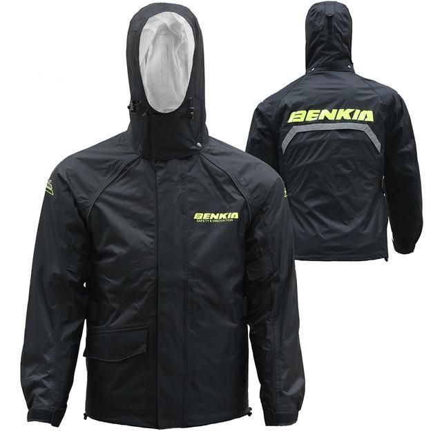 Benkia Motorcycle Rain Coat Two-Piece Raincoat Suit Riding Rain Gear Men Women Camping Fishing Rain Gear Poncho