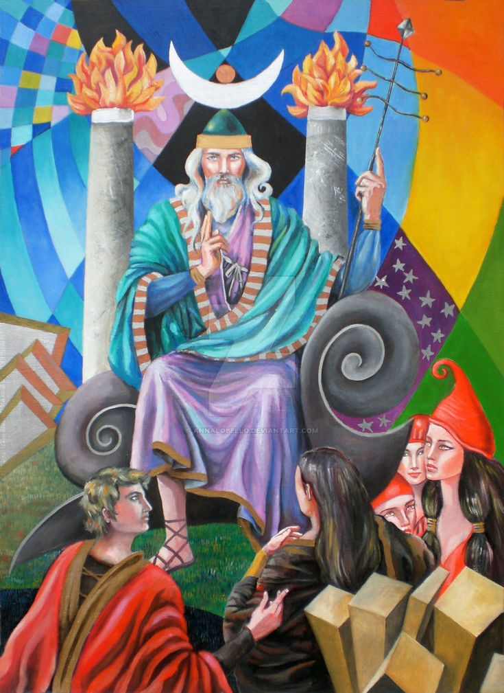 the tarot - the hierophant 5 oil on panel 50x70 cm