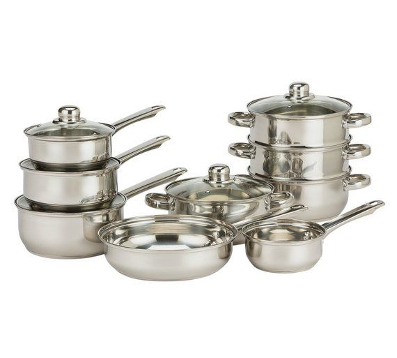Buy HOME 9 Piece Stainless Steel Pan Set at Argos.co.uk, visit Argos.co.uk to shop online for Pan sets, Cookware, Cooking, dining and kitchen equipment, Home and garden