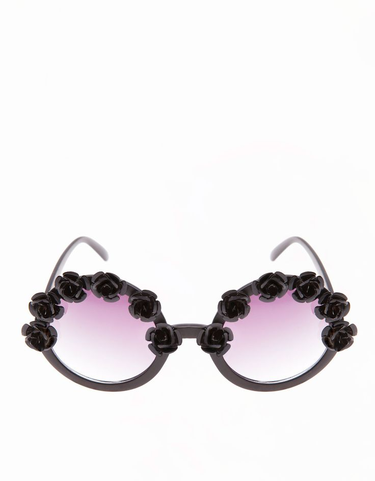 Floral detail glasses