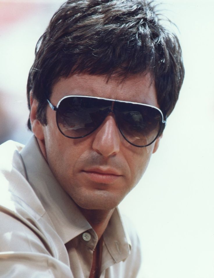 Al Pacino as Tony Montana in Porsche/Carrera 5622 sunglasses | SelectSpecs.com