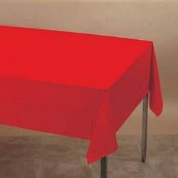 MFRE-07 - Red Rectangle Tablecover Please note: approx. 14 day delivery time.