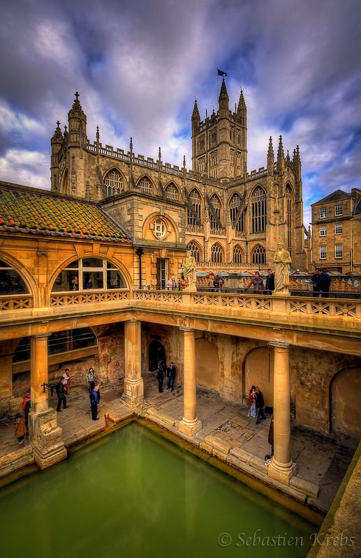 Roman Baths, Bath, England--would love to go back there.