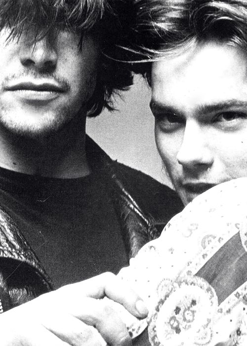 Keanu Reeves and River Phoenix / Black and White Photography