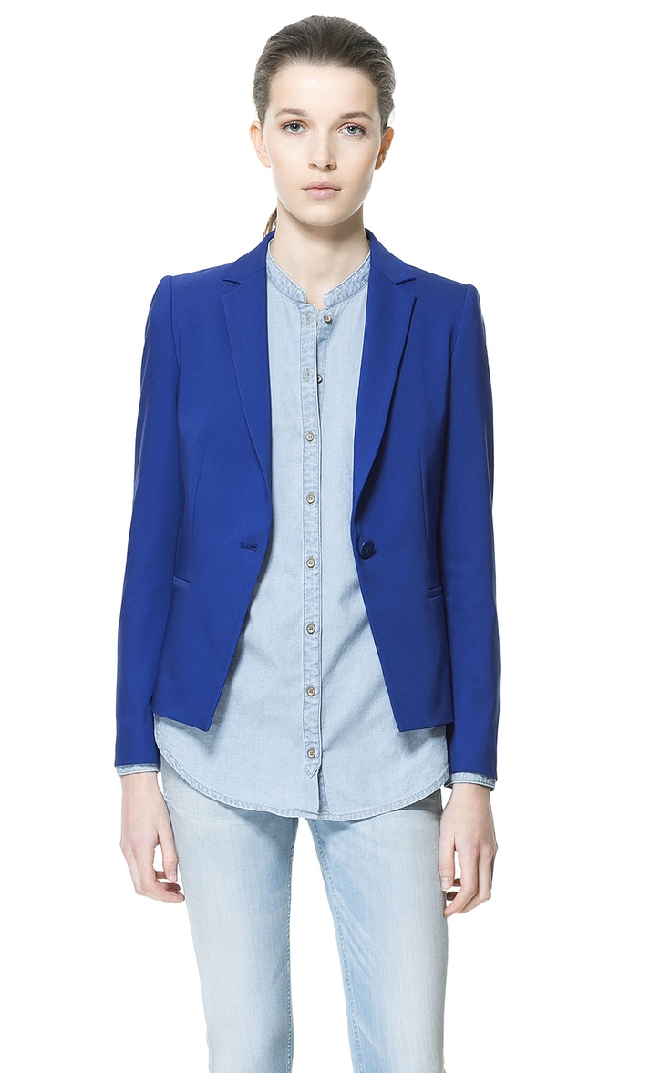 SINGLE BUTTON BLAZER - Blazers - Woman - ZARA Indonesia