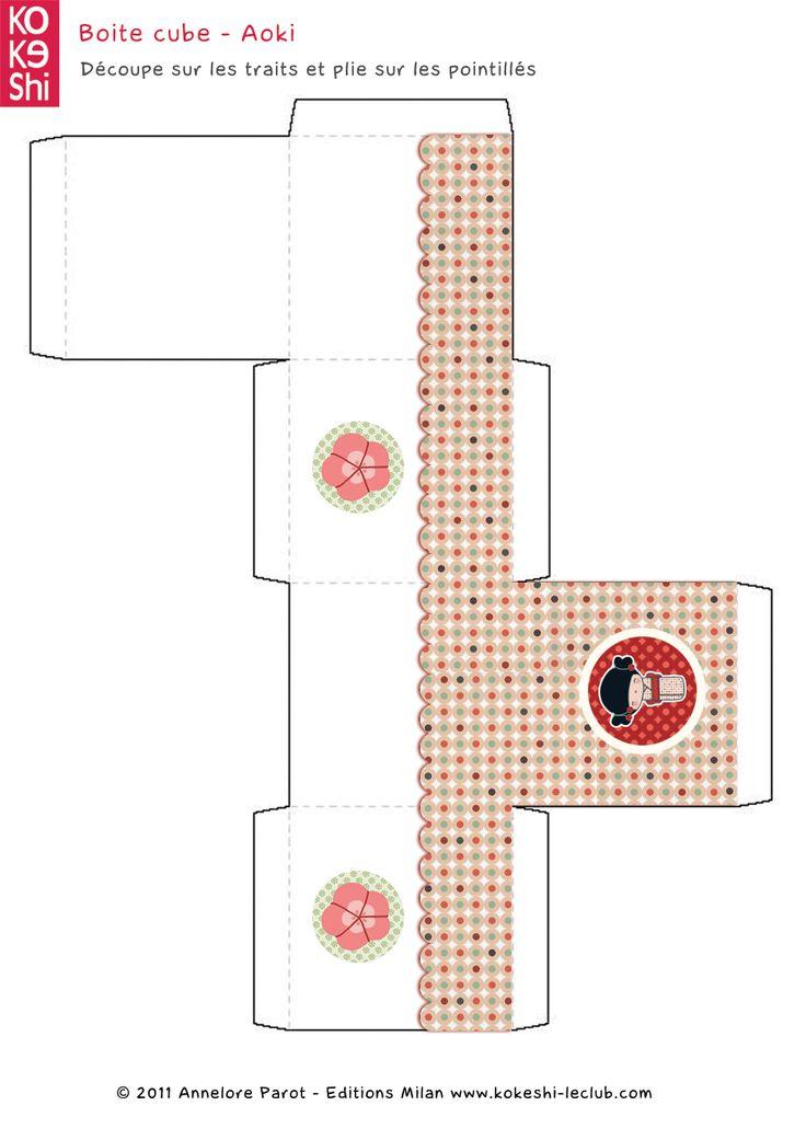 Kokeshi box to print: Aoki