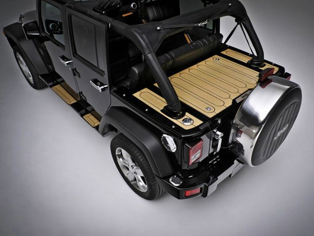 Marine Wood Cargo Lid With Leather Roll Cage Covers Jeep