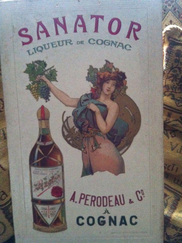 French Art Nuevo Cognac advert