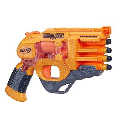 Nerf – B4949eu40 – Doomlands Persuader: Avec son look néo-western le pistolet Nerf Doomlands Persuader vous permettra de remporter de…
