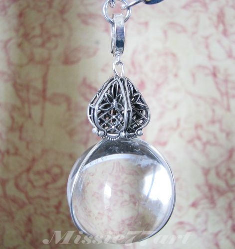 Vintage Inspired Clear Quartz Pool of Light Necklace Silver plate - Gift Boxed $169.95
