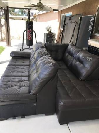 Free Giveaway Sofa Orange Sectional Pick Up Only Text