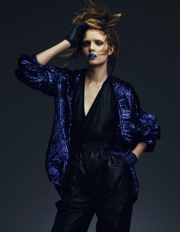 Key looks for autumn 'Techno fabrics' | Josephine Skriver | Andrew Yee #photography | How To Spend It