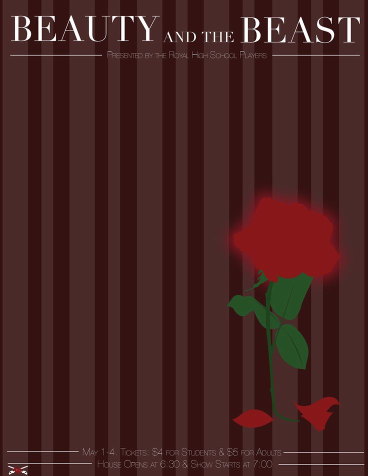 Beauty and the beast 1991 minimal movie poster by anna for Art minimal livre