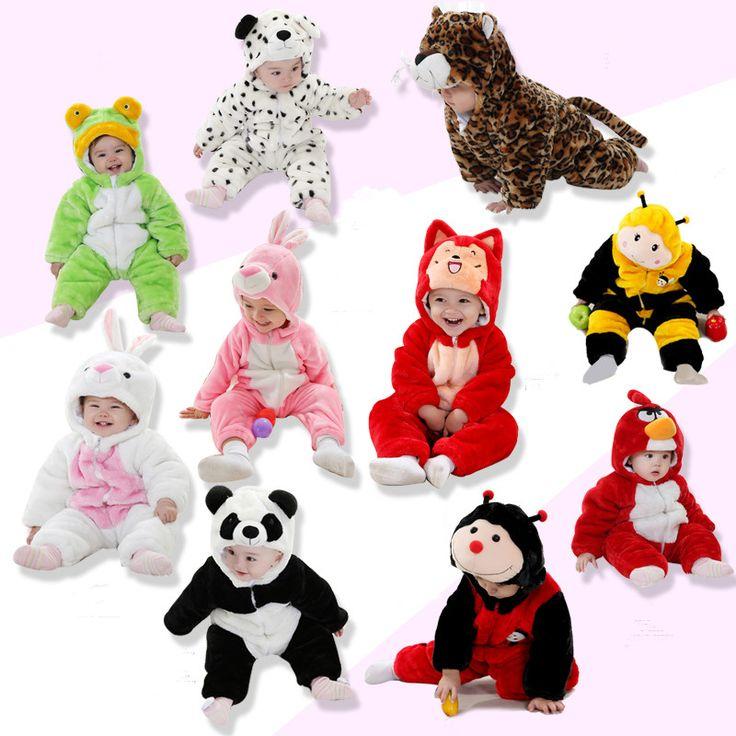 ファッション男の子女の子服かわいい3d動物幼児赤ちゃん冬や秋厚みの新生児服を登るロンパース赤ちゃんロンパース