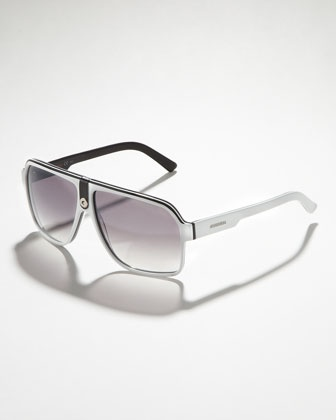 Carrera Plastic Sport Shield Sunglasses: Black/Gray: $135 @ Neimanmarcus.com