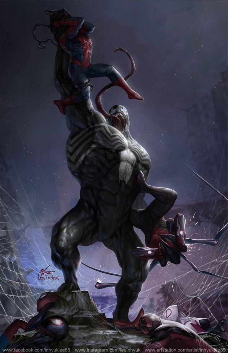 Pin by Darryl Wood on Vs Marvel spiderman, Marvel venom