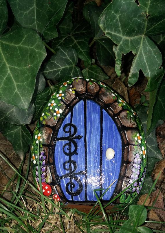 Fairy Door Hand Painted Rock Decorative Fairy Door Fairy Decor Cute Fairy Decor & 216 best pebbles and stones - Doors images on Pinterest | Painted ... pezcame.com