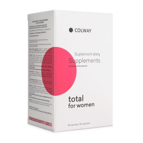 Total for Women is a dietary supplement for women who want to keep their body in good physical and mental well-being. For women who think about themselves today and care about their future. To function properly body cells need about 60 nutrients per day at appropriate proportions. The body is not able to produce nearly 40 of them itself. Depletion of food produced today impairs their acquisition even with varied diet.