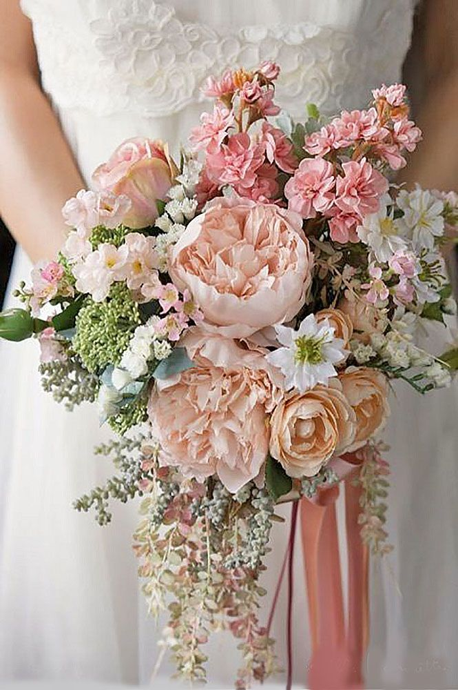 Glamorous Blush Wedding Bouquets That Inspire ❤ See more: http://www.weddingforward.com/blush-wedding-bouquets/ #weddings