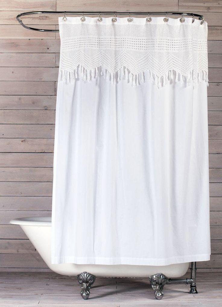 rideau de douche en crochet vintage 20 id es de rideau. Black Bedroom Furniture Sets. Home Design Ideas