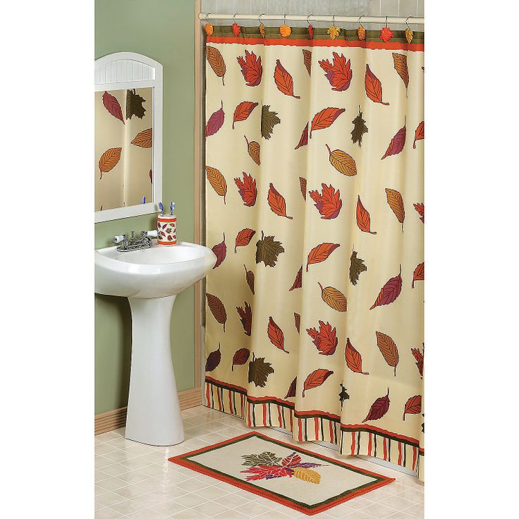 Fall leaves shower curtain for Thanksgiving home decorations pinterest