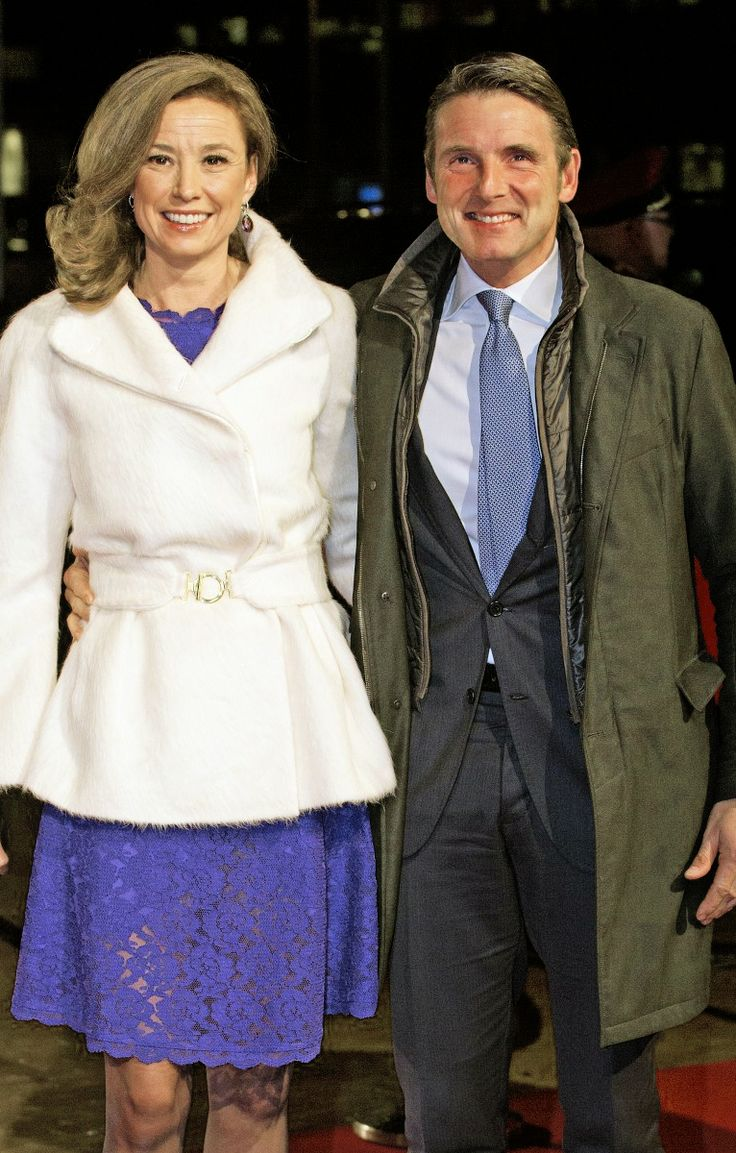 koninklijkhuis:  Dutch Royal Family Celebrates Pieter Van Vollenhoven's 75th birthday, December 8, 2014-Prince Maurits and Princess Marilène