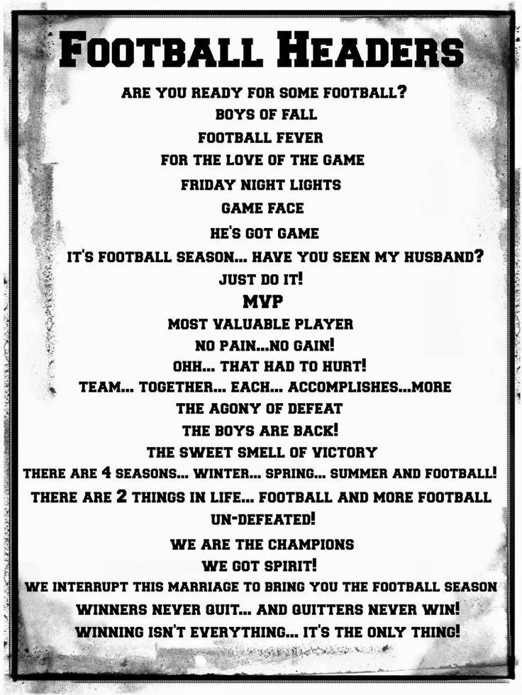 Football Title Pages #CreativeMemories #Croptoberfest2015 www.creativememories.com