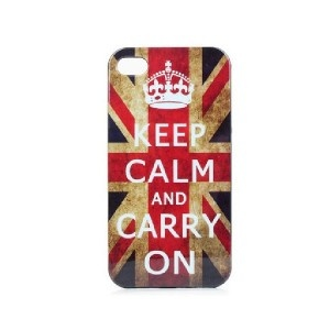 Coque Keep Calm and Carry On pour iPhone 4/4S
