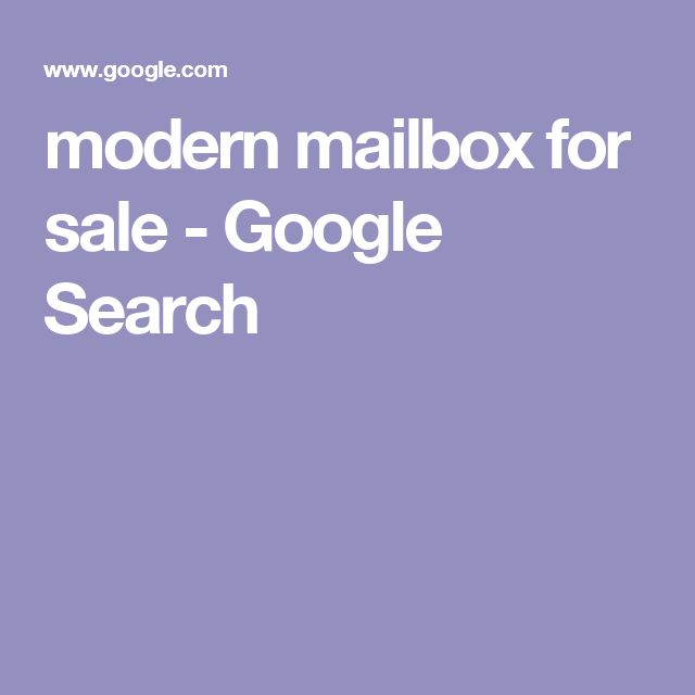 modern mailbox for sale - Google Search