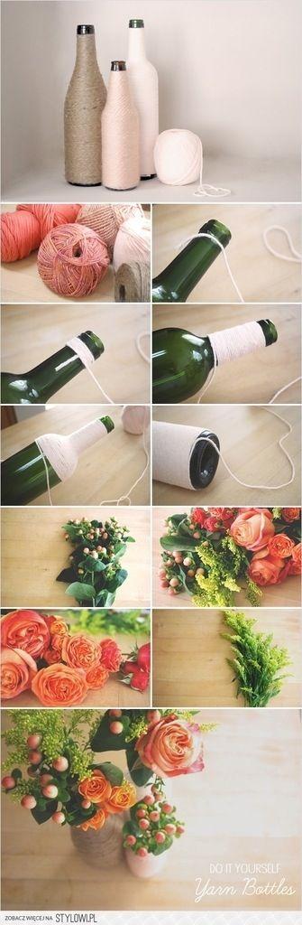 Vase from Old bottles