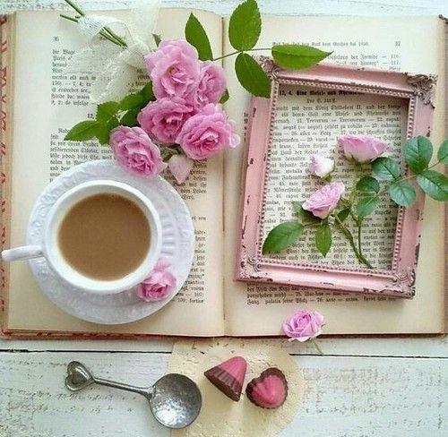 Imagen de coffee and rose
