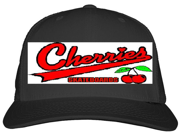 Cherries Skateboards Softball Logo Trucker Hat