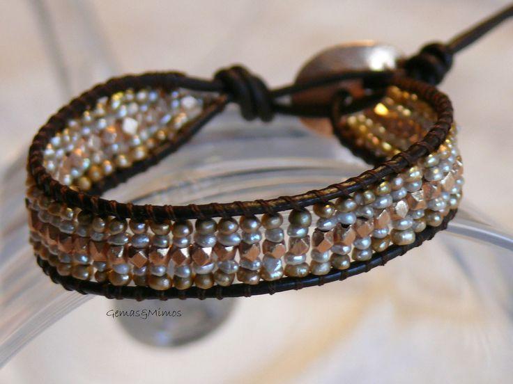 Perlas #jewelry #handmade #gemstones #joyeria #hechoamano #artesania #piedras #wraps #leather #cuero