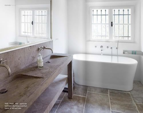 bath: Guest Bathroom, Concrete Sinks, Bathroom Inspiration, Dreams Bathroom, Bathroom Vanities Double, Bathroom Remodel, Bathroom Sinks, Dreamy Bathroom, Bath Rooms