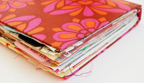 Handmade lovely journal, by iHanna of www.ihanna.nu