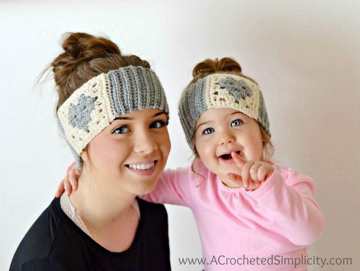 Free Crochet Pattern - Granny Heart Headwarmer