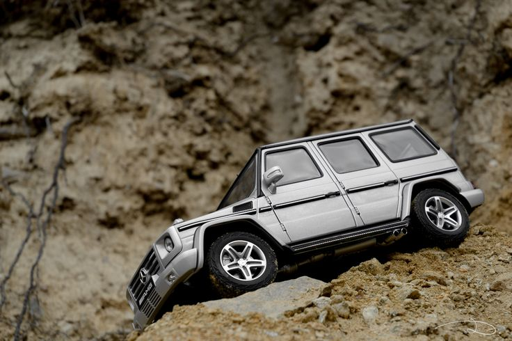 """One from a series of shots taken on an off-road """"course"""" I created for this Mercedes-Benz G55 from AUTOart."""