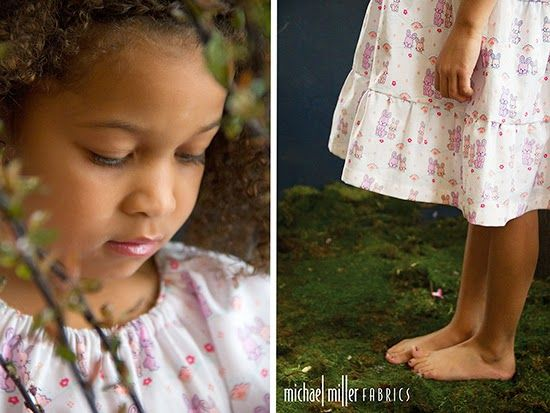 """little girl dress in Cynthia Rowley Spring """"OH BABY!"""" fabric line for Michael Miller Fabrics; photo and style by Trenna Travis Design Studio"""