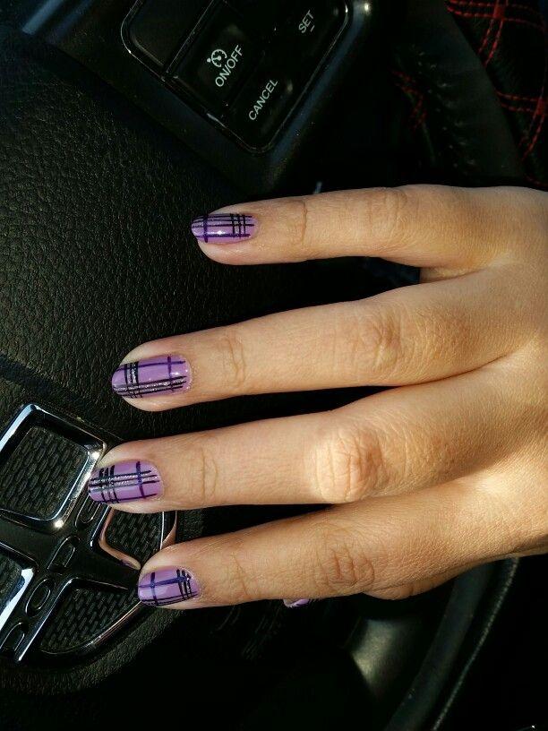 #purplemanicure #shellac