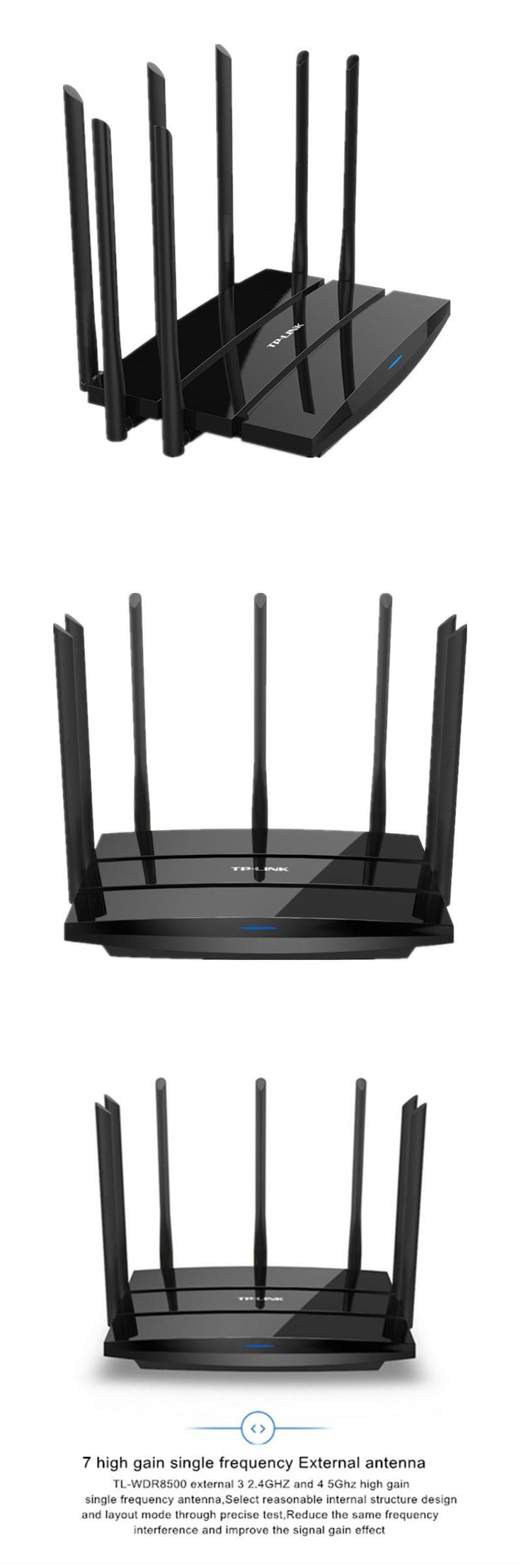 [Visit to Buy] TP-LINK Wireless Wifi Router 2.4G/5GHz DuaL Band Gigabit 2200Mbps 802.11AC Wifi Repeater 7 Antennas TL WDR8500 Roteador #Advertisement