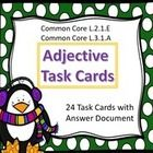 This is a set of twenty-four task cards for adjective.  Students read the sentence on the task cards, decide which word is the adjective, and recor...